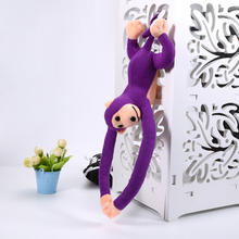 60cm Lustige Affe Tier Lange Hände Puppe Weiche Plüsch baby Spielzeug Kinderwagen Schlafen Spielzeug Gefüllte Puppen Kinder Geschenk
