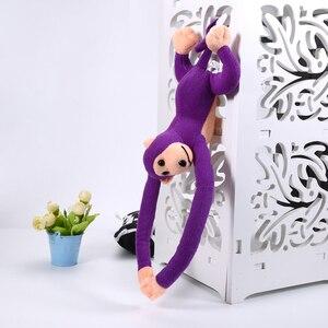 Image 1 - 60cm Lustige Affe Tier Lange Hände Puppe Weiche Plüsch baby Spielzeug Kinderwagen Schlafen Spielzeug Gefüllte Puppen Kinder Geschenk