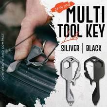 Multi-Tool Key Multifunctional Key Pendant Wrench Set Universal Keys Gear Clips Measuring Adjustable Portable Home Hand Tool