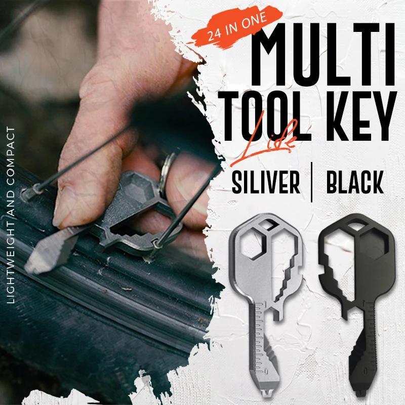 New Multi-Tool Key Multifunctional Key Pendant Wrench Set Universal Keys Gear Clips Measuring Adjustable Portable Home Hand Tool