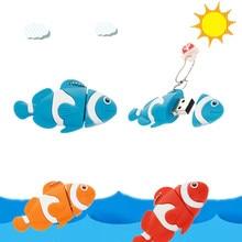 Cartoon nemo fish pen drive 8GB 16GB pendrive usb flash 128GB 64GB 32GB waterproof memory stick free shipping