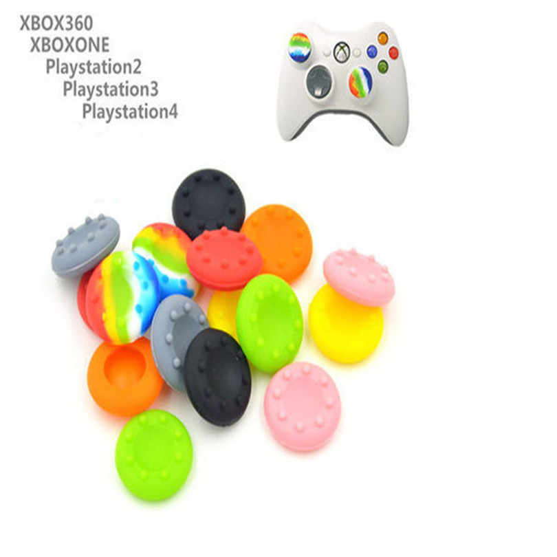 2 uds SiliconeGamepad controlador Joystick pulgar Stick Grip tapas fundas para PS4 PlayStation 4 PS3 Xbox 360 un juego