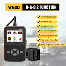 V500 Universal O-B-D2 Scanner Engine Fault Reader Read Clear Codes I/M Readiness Smog Check Car Truck Diagnostic Scan Tool