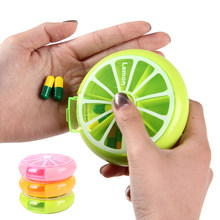 Pastillero giratorio de 7 días para pastillas de limón, organizador divisor de pastillas, caja de medicina, dispensador de viaje, Pillbox, herramientas de cuidado de salud