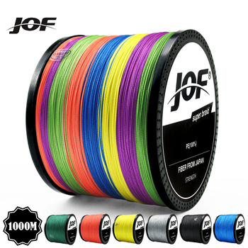 JOF100M 300M 500M 1000M Multicolour PE Braided Wire 8 Strands Multifilament Japanese Fishing Line