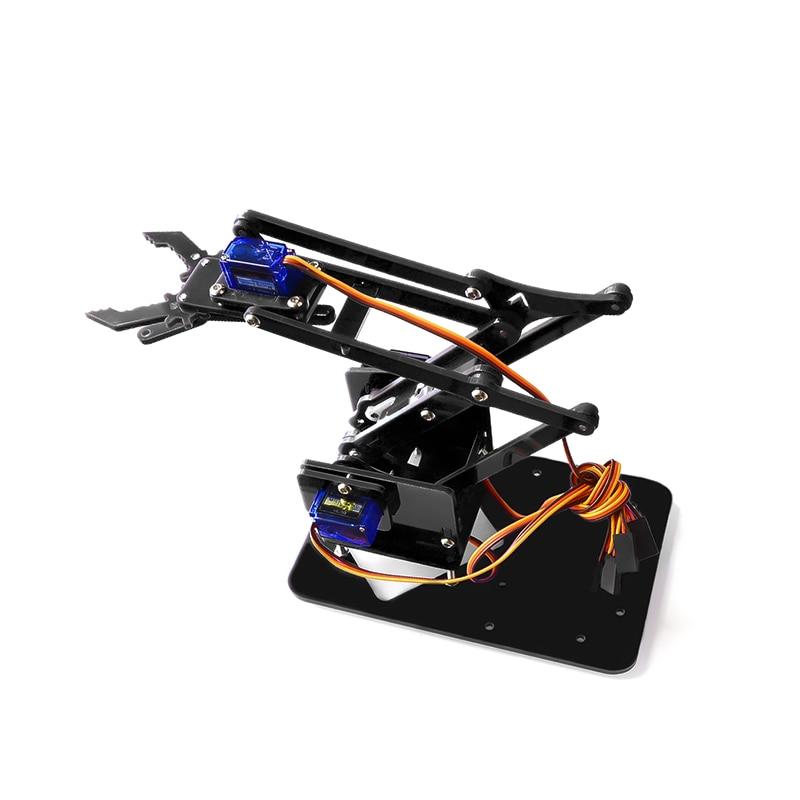 4 DOF désassemblage acrylique bras mécanique Robot manipulateur griffe pour Arduino fabricant apprentissage Kit de bricolage Robot
