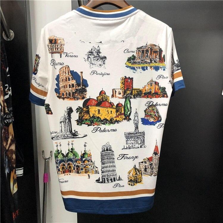 Nuevo 2019 Primavera Verano hombres/mujeres camisetas alta calidad 100% algodón estampado camisetas M 3XL tamaño G112 - 2
