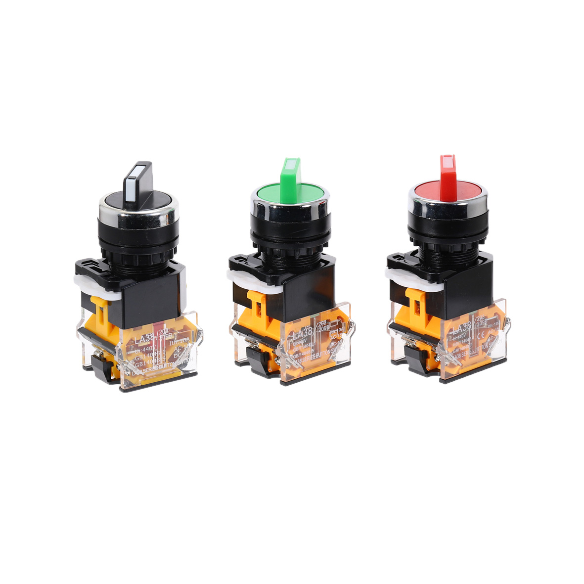 1pcs 22mm Self-lock Selector Switch 1NO1NC 2 Positions Rotary Switches DPST 4 screws 10A400V Power Knob Switch ON/OFF