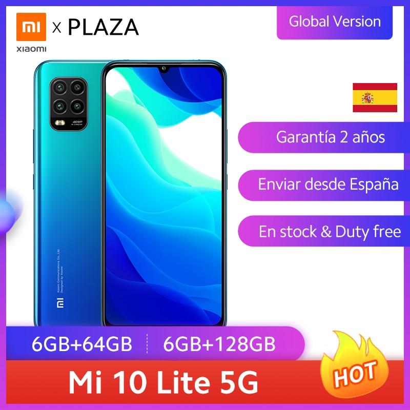 Xiaomi Smartphone Mi 10 Lite, versión global teléfono inteligente 5G, 64GB, 128GB, Snapdragon 765g, AMOLED, 6,57'', cámara de 48MP, 20W, nfc, 4160mAh Teléfonos móviles  - AliExpress