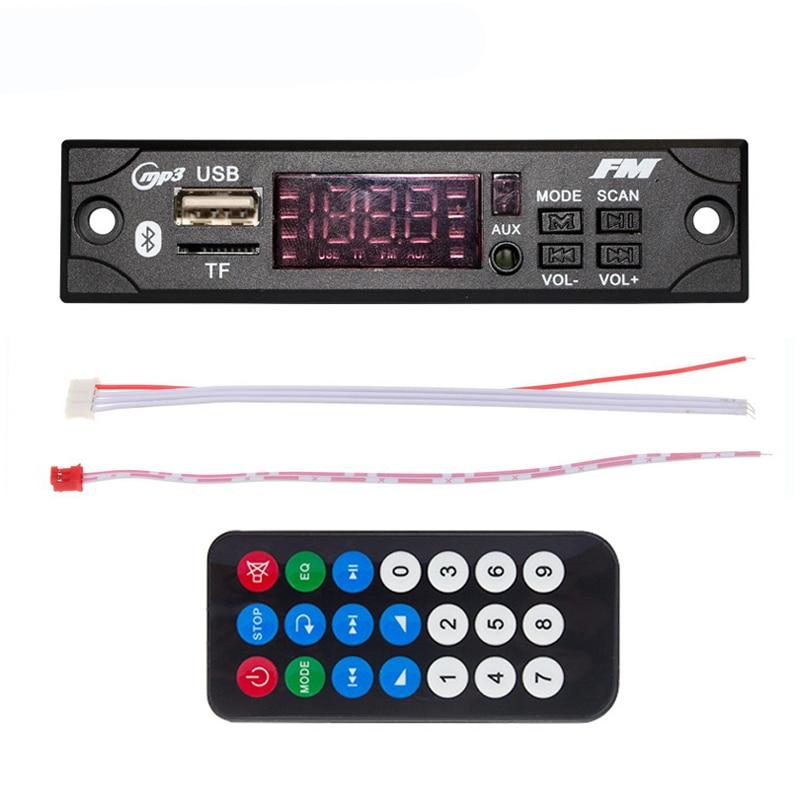 Wireless Bluetooth Decoder Board Module MP3 WMA WAV AUX 3.5MM Car Audio MP3 Music Player USB TF FM Decoder Board With Remote
