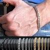 Vnox 3-11mm Chunky Miami łańcuszek bransoletka dla mężczyzn ze stali nierdzewnej Curban Link Chain nadgarstek klasyczny Punk ciężki biżuteria męska