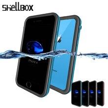 SHELLBOX 범용 방수 케이스 아이폰 7 8 플러스 X XS 최대 XR 수영 커버 케이스 전화 Coque 방수 전화 케이스