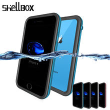 SHELLBOX Universal Waterproof Case For iPhone 7 8 Plus X XS Max XR Swimming Cover Case For Phone Coque Water proof Phone Case