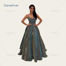 Элегантные блестящие платья для выпускного вечера с v образным