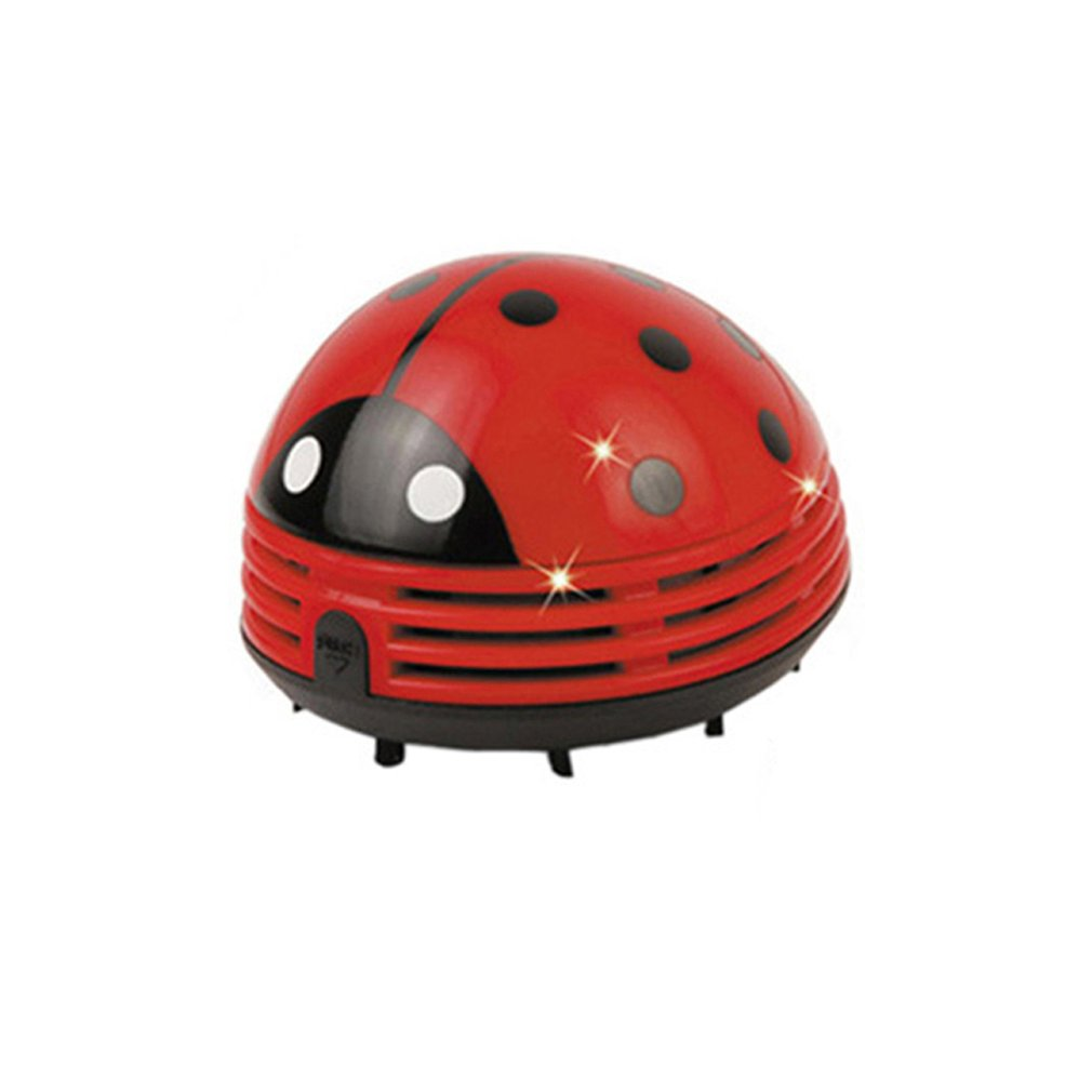 Table Dust Vaccum Cleaner Ladybug Shaped Portable Corner Desk Vaccum Cleaner Mini Cute Vacuum Cleaner Dust Sweeper Personal Care Appliance Parts     - title=