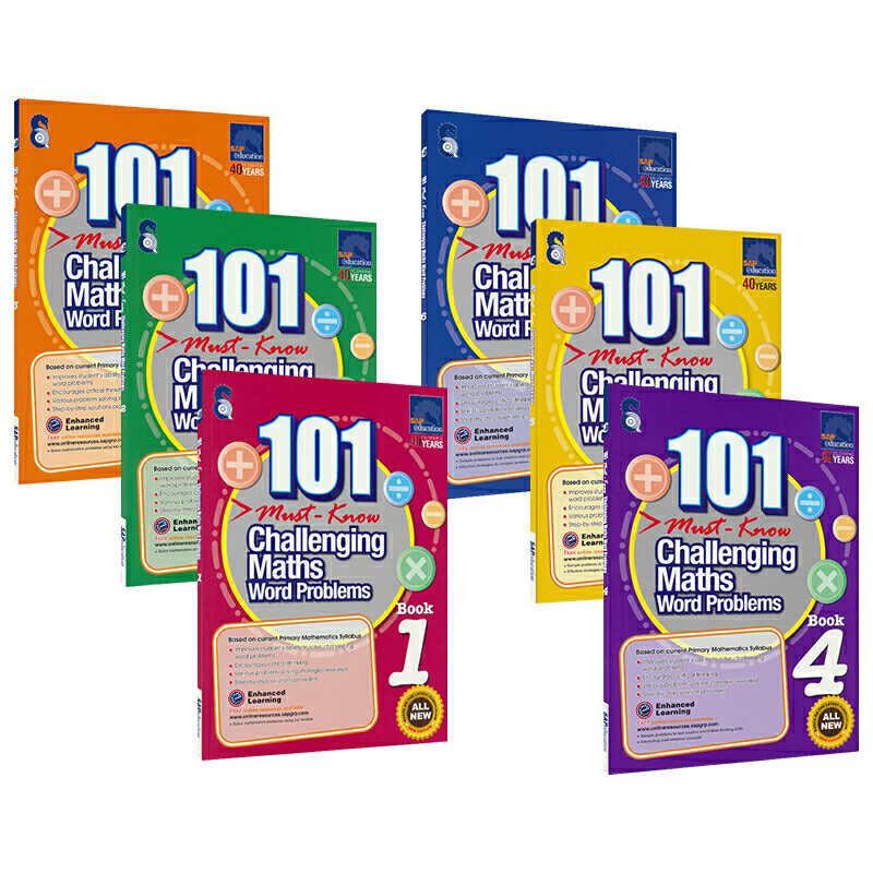 Books Practice-Book 101-Challenging Maths SAP Word-Problems Primary Singapore School-Grade