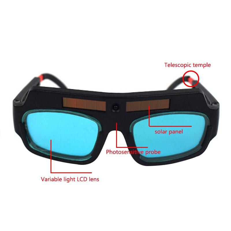 Большая сделка 1 шт. Солнечная энергия авто затемнение Сварочная маска шлем очки для сварки очки дуги анти-шок линзы для защиты глаз
