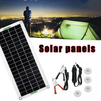 30W Solar Panel USB Solar Charging 10A/20A/30A/40A/50A/60A Controller Battery Solar Solar Flexible Panel Camping Outdoor Pa H5F4 50a solar panel battery charge solar high power positive high voltage ideal diode controller anti reverse irrigation protection