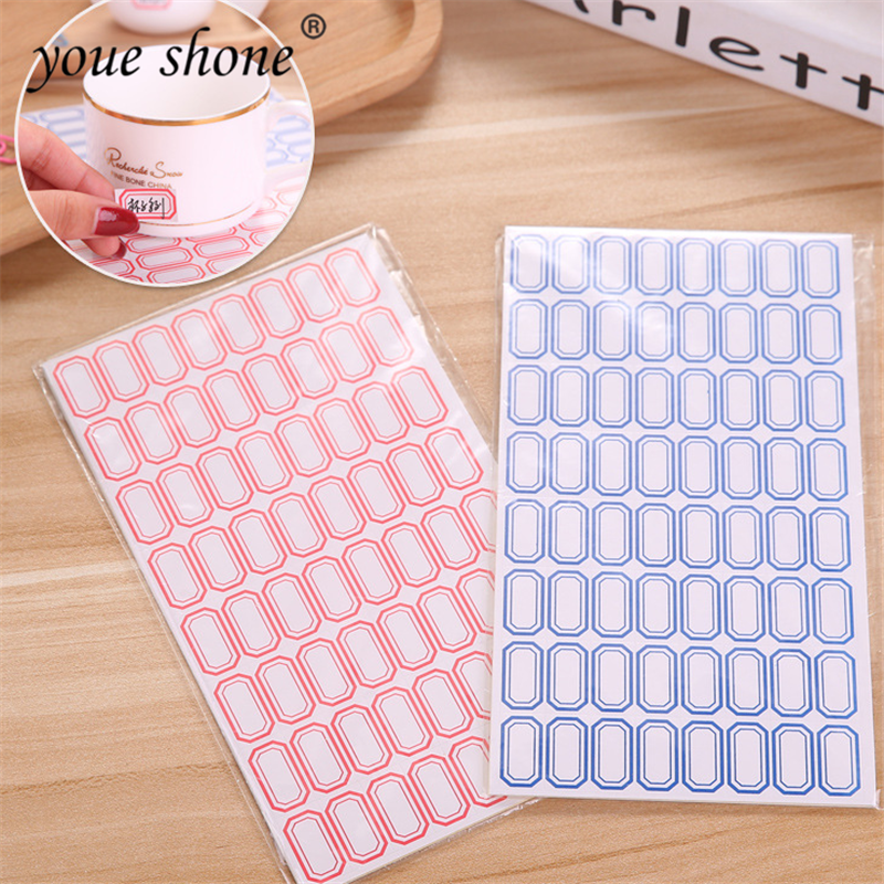 5pc/lots Simple Style Paper Self-adhesive Label Sticker Product Classification Stationery Stickers Price Tag Sticky Note