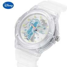 Disney Original +Trend Дамы часы Frozen Student Boy Girl Transparent Luminous Princess Children% 27s Watch