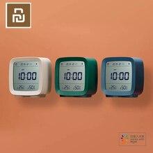 الأسهم الأصلي Youpin Qingping بلوتوث ساعة تنبيه درجة الحرارة الرطوبة رصد ضوء الليل 3 in 1 ساعة تنبيه 3 ألوان
