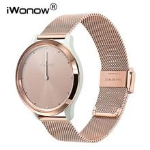 Milanese paslanmaz çelik watch band Garmin Vivomove HR/3/3 S/Vivoactive 4/4 S/ 3/Venu/lüks/tarzı hızlı bırakma saat kayışı kayış