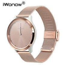 Milanese ze stali nierdzewnej Watchband dla Garmin Vivomove HR/3/3 S/Vivoactive 4/4S/3/Venu/Luxe/Style Quick Release Watch Band Strap