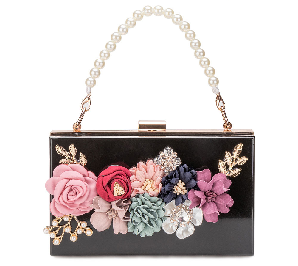 Women Acrylic Flower Clutches Purse Evening Bags Chain Strap H7ca5711d0b554bbd9f7981738f926525G Bag