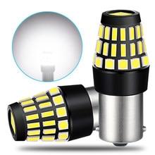 2Pcs Canbus No Error P21W BA15S LED Bulb For Skoda Superb Octavia 2 A5 FL 2009 2010 2011 2012 2013 DRL Reversing Lights Lamp 12V
