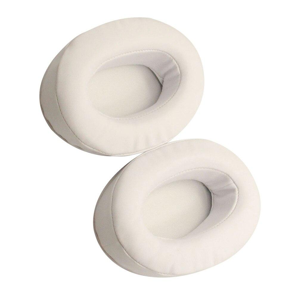 Remplacement HM5 oreillettes mémoire mousse oreillettes coussins pour Brainwavz HM5 Sony MDR V6 / ZX 700 casque (blanc)