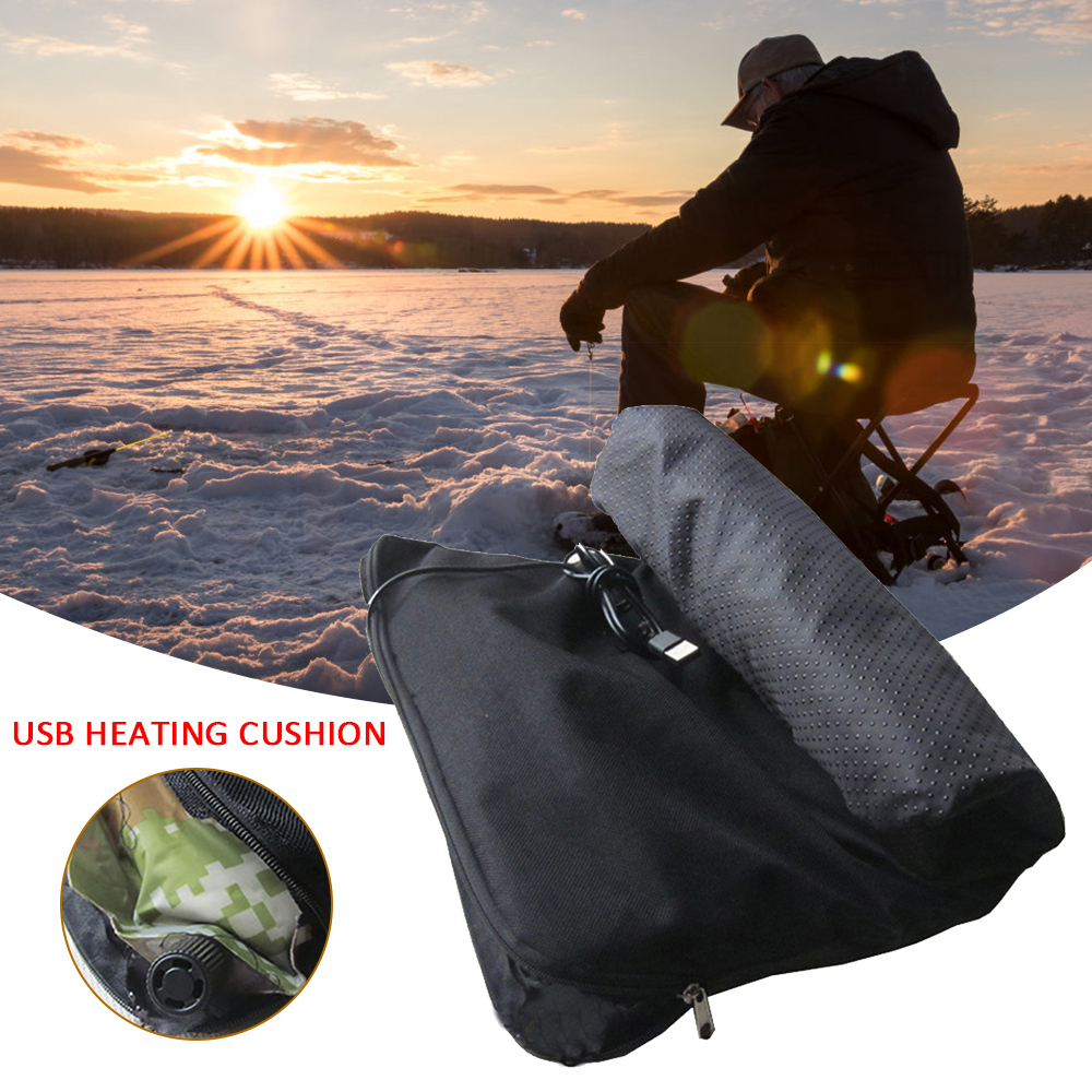30x40cm USB Electric Cloth Heater Pad Multifunction Carbon fiber Heating Cushion Pad Automatic inflatable cushion Fishing mat|Fishing Chairs| |  - title=