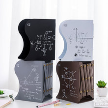 Metal Adjustable Telescopic Bookshelf Desk File File Storage Rack Portable School Student Book Storage Rack Bookend Stand