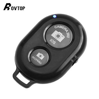 Rovtop Bluetooth zdalne wyzwolenie migawki aparat telefoniczny stojak trójnóg Selfie Stick migawki samowyzwalacz zdalnego sterowania dla IOS Android tanie i dobre opinie SAMSUNG wireless Remote Shutter Release RJI0046