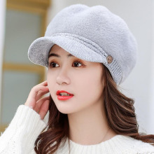 цены SUOGRY 2019 New Fashion Women Winter Warm Cap Beret Braided Baggy Knit Crochet Beanie Hat Ski Cap Rabbit fur beret Boina