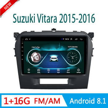 For Suzuki Vitara 2015 2016 video player multimedia system audio stereo GPS navigator tape recorder no Android 8.1 mirror link image