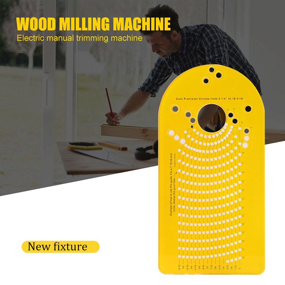 1 Pc Kreis Schneiden Jig Für Elektrische Hand Trimmer Holz Router Holz Fräsen Kreis Nut DIY Hand Holzbearbeitung Werkzeug Set