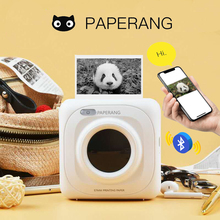 PAPERANG Portable Bluetooth Photo Mini Printer Thermal printer Pocket printer inkless clearly printing for Mobile Android iOS P1 cheap ZJiang Wireless Dot-matrix Black And White Manual 20ppm 220-240V(±10 ) Personal Work Management None Universal ticket printer