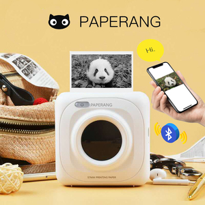 PAPERANG Portable Bluetooth Photo Mini Printer Thermal printer Pocket printer inkless clearly printing for Mobile Android iOS P1