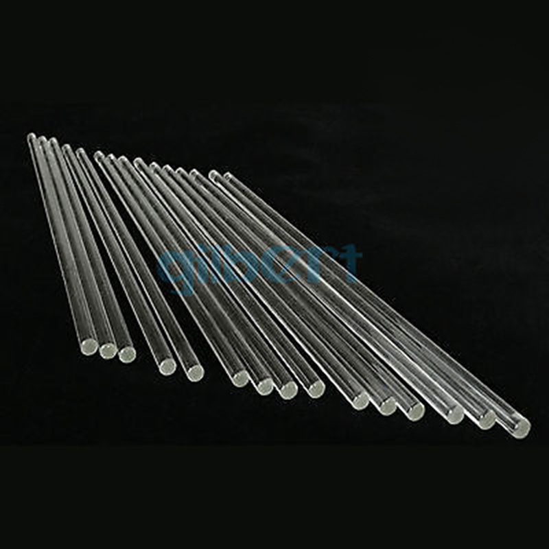 LOT10 Lab Glass Stirring Rods 6mm Diameter 200/250/300mm Length Borosilicate High Resistant Stirrer For Chemistry Lab