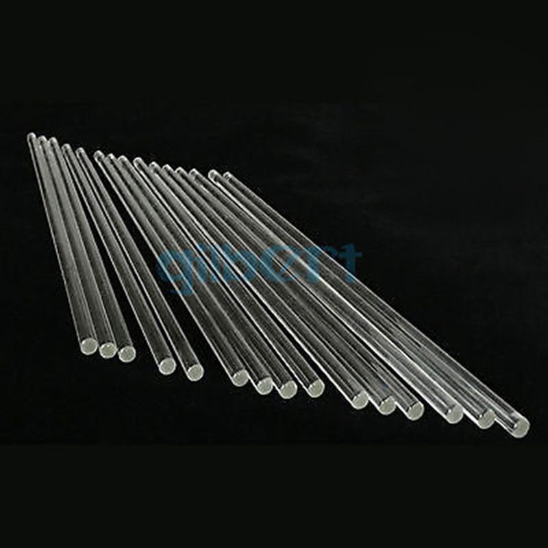 LOT10 Lab Glass Stirring Rods 6mm Diameter 200/250/300mm Length Borosilicate High Resistant Stirrer For Chemistry Lab