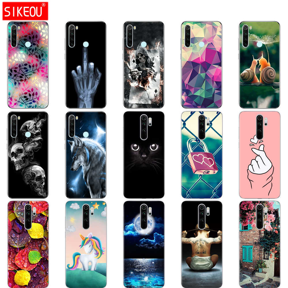 For xiaomi Redmi Note 8T Case Silicone Painting Soft TPU For xiaomi Redmi Note 8 Case Fundas Coque Redmi NOTE 8 PRO Case cat