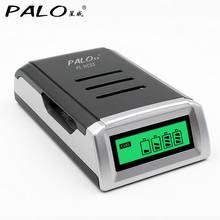 лучшая цена LCD Display With 4 Slots Smart Intelligent Battery Charger For AA / AAA NiCd NiMh Rechargeable Batteries