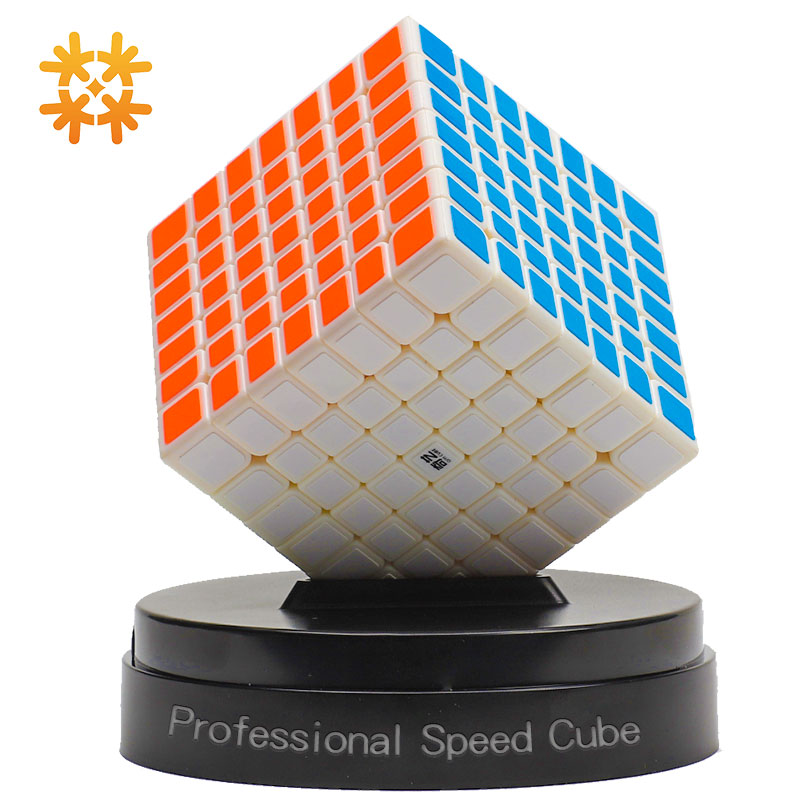 Qiyi Qixing 7x7x7 Speed Magic Cubes 7 Layers Black Stickerless Puzzle 7*7*7 Education Toys For Children Toys For Adults