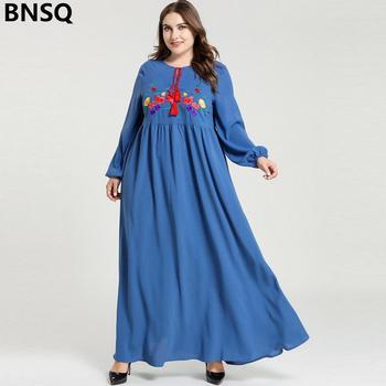 Moda musulmana vestidos para las mujeres de manga larga Maxi Turquía vestido Dubai Abaya Kimono caftán Kaftan marroquí Vistidos Largos Hijab