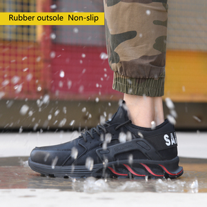 Image 4 - New winter solid safety shoes steel head anti smashing stab resistant work shoes breathable protection toe