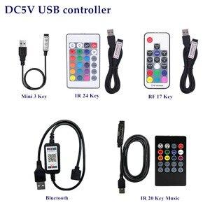 Image 3 - SMD 5050 RGB LED Strip DC 5V USB LED Light Strip Flexible IP20 IP65 Waterproof Tape 1m 2m 3m 4m 5m add Remote For TV Background
