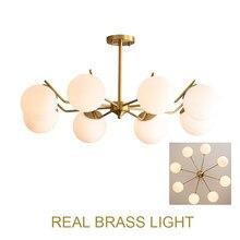 Vidro leitoso globo de cobre conduziu a lâmpada pingente foyer jantar sala estar luz bronze dna modo moderno luz pingente lâmpada led
