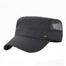 Sport Snapback Cap Mesh-Hat Baseball-Cap Flat Quick-Dry Cotton Women Mens Summer Outdoor