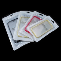 DHL White Plastic Cell Mobile Phone Case Packaging Bag Zipper Hang Hole For iPhone 6 5 4 Samsung Galaxy 4 Sizes Packing Pouch