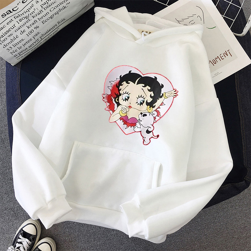 Plus Size sweatshirt Women Summer 2021 Spring Oversized Cute Print hoodie Cute Hip hop Kawaii Harajuku womens tops clothes 22